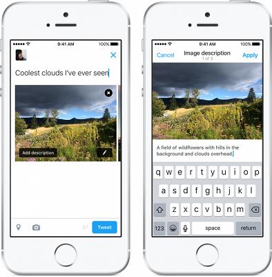 Dois smartphones mostram, em suas telas, o novo recurso do Twitter