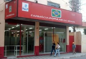 Fachada de uma das unidades do Programa Farmácia Popular do Brasil, em Porto Alegre/ RS