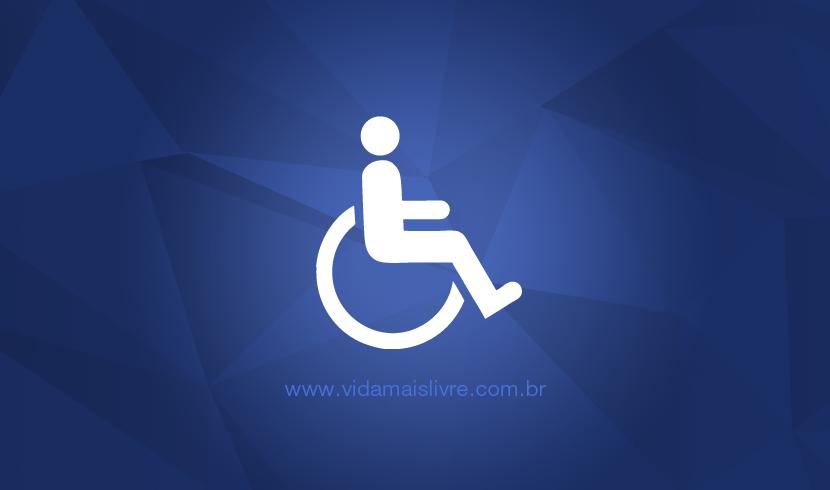 Símbolo da deficiência física mostra uma pessoa sentada em uma cadeira de rodas.