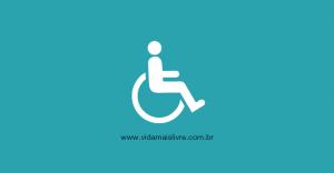 Símbolo da deficiência física, em fundo verde