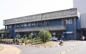 Foto da fachada do Hospital das Clínicas da Faculdade de Medicina de Ribeirão Preto