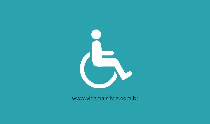 Em fundo verde, ícone que representa um cadeirante em branco