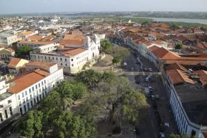 Foto aérea do Centro Histórico de São Luís