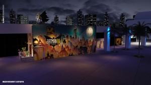 Foto de uma das áreas da Exposição Batman 80