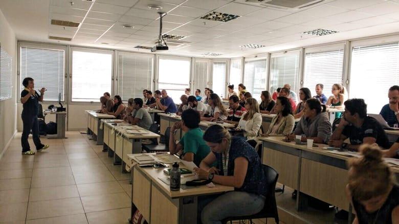 Foto de alunos do Programa Pulsar em uma sala de aula