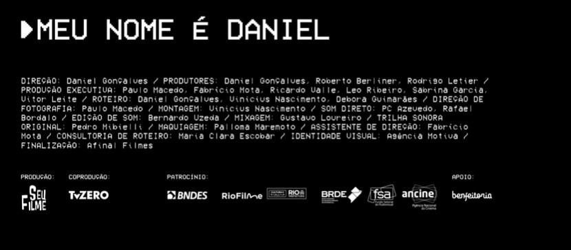 Ficha técnica do filme Meu Nome é Daniel