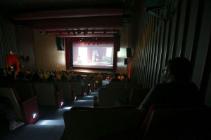 Foto de uma sala de cinema