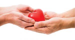 mãos segurando um coração