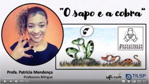 Foto de um print de um vídeo do Youtube