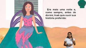Ilustração do livro Serei Sereia.